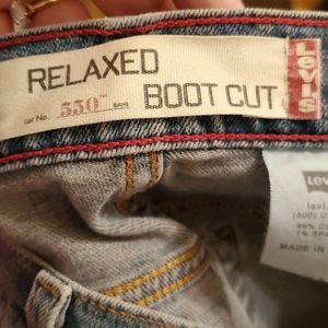 Levi's 550 Relaxed Boot Cut Jeans, size 12S
